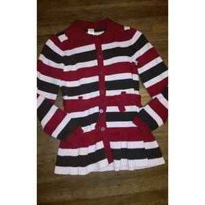 Gymboree Sweet Treat Striped Belted Sweater Duster